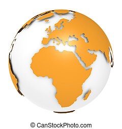 The Earth rotation view 2. - The Earth, Orange Shell design....