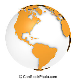The Earth rotation view 3 - The Earth, Orange Shell design...