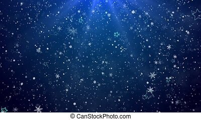 Snowflakes and stars. New Year's - the Christmas background