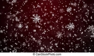 Christmas background with snowflakes - falling snow