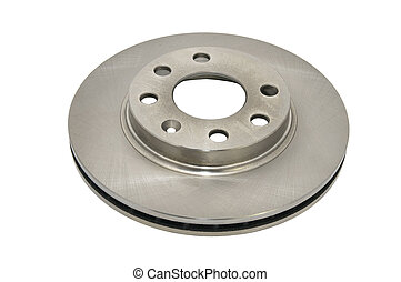 auto parts - Brake disk for the car on a white background