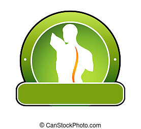 Human spine illustration. Can be used as a symbol for spinal...