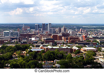 Birmingham Skyline - Skyline view of the city of Birmingham,...