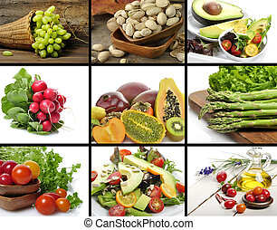 Healthy Food  - Healthy Vegetables And Fruit Food  Collage