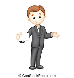 3d Business man in Vector