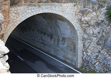 Roadway Tunnel - Tunnel through side of mountain on roadway...