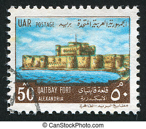 Alexandria - EGYPT - CIRCA 1969: stamp printed by Egypt,...