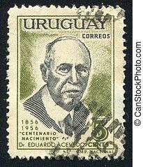 Eduardo Acevedo - URUGUAY - CIRCA 1957: stamp printed by...