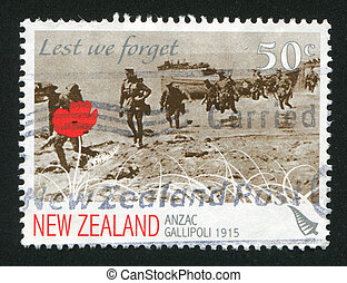 New Zealand Army Corps - NEW ZEALAND - CIRCA 2008: stamp...