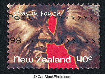 Older Couple with Faces Together - NEW ZEALAND - CIRCA 1998:...