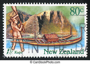 Kupe Arriving to New Zealand on Boat - NEW ZEALAND - CIRCA...