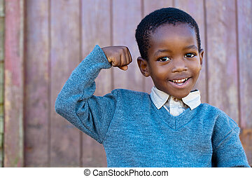 See the muscles - Confidence that can only grow ou of a...