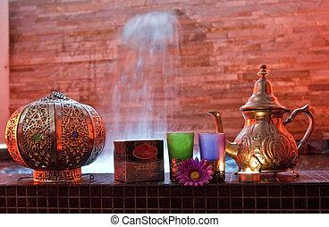 moroccan tea - Moroccan mint tea in the pool