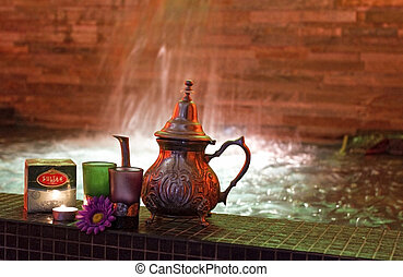moroccan tea - Moroccan mint tea in the pool