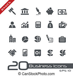 Business and Finance Icons Basics - Vector icons for your...