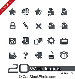Web Icons Basics - Vector icons for your web or printing...