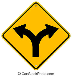 Fork in Road Sign - Illustration of Fork in the road symbol...