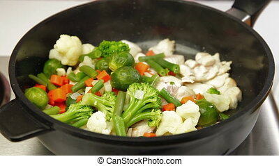 Chicken and Vegetable Stir Fry - Chicken Breast and...
