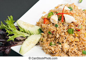 Thai Crab Fried Rice - A Thai dish of crab fried rice...