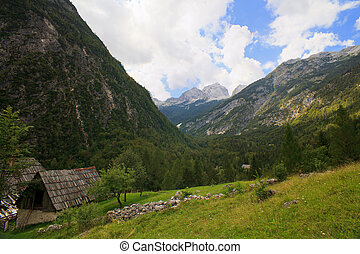 Slovenian Julian Alps - View of Slovenian Julian Alps in the...