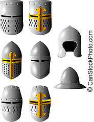 medieval helmet armor hard protection