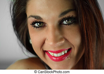 Beautiful, smiling young lady