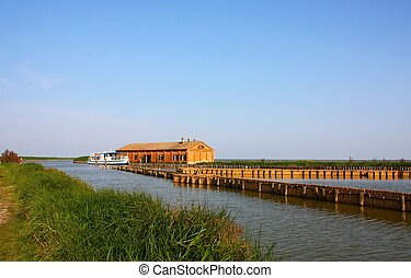 Valleys of Comacchio landscaoe