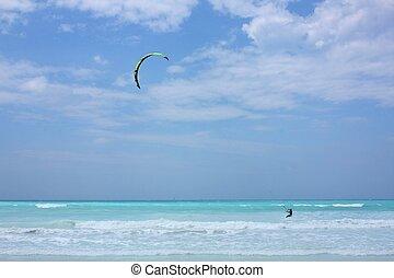 Kitesurf water sport