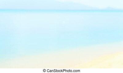 Pretty woman walking on the beach