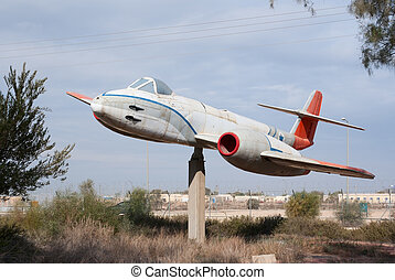 Gloster Meteor monument - Gloster Meteor plane monument at...