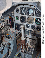 Jet plane cockpit - Cockpit of the Fouga Magister jet plane