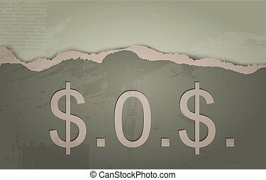 SOS. The concept of Dollar