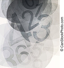 Compositions of colored number. abstract background