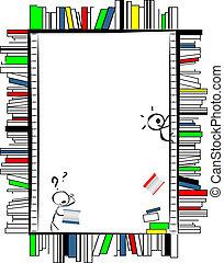 Funny book frame - Funny cartoonish frame, made of books...