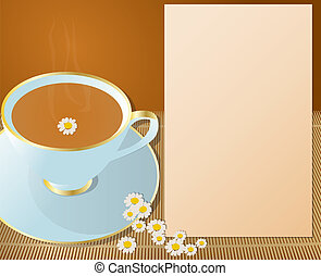 Cup of chamomile.