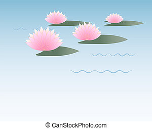 Lotus  - Lovely lotus illustration and space for text