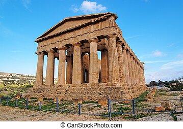 Concordia temple in Agrigento, Sicily, Italy