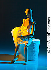 figure with toilet paper - a figure with toilet paper. photo...