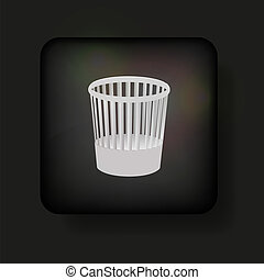 Vector bucket icon on black. Eps10