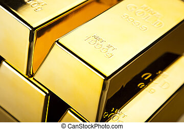 Stack of gold bars - Stack of gold bars