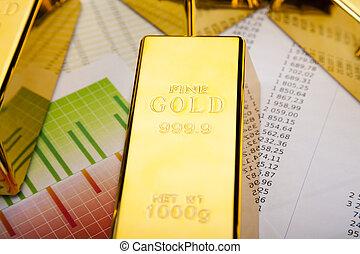 Gold Ingot on a Chart