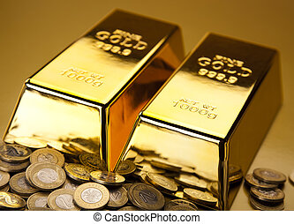 Gold and coins - Goldcoins