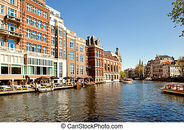 Classical landscape of Amsterdam, Netherlands - Amsterdam...