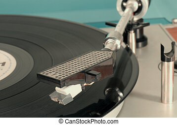 Gramophone player - Old record player in retro-style,...