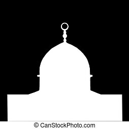 Dome of the Rock white Silhouette