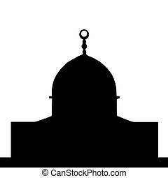 Dome of the Rock Silhouette