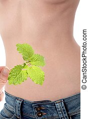 Woman Stomach with Balm