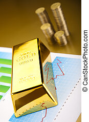 Gold Ingot on a Chart