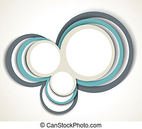 Background with abstract circles - Bright white background...