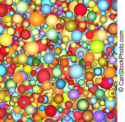 3d glossy floating bubble backdrop in multiple color
